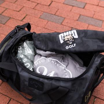 CALLAWAY OHIO GOLF CAMO DUFFLE BAG