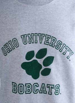 OHIO UNIVERSITY BOBCATS PAW CREW NECK SWEATSHIRT
