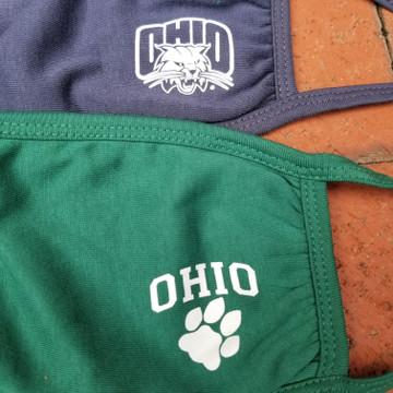 OHIO FACE MASKS (SET OF TWO) AND OHIO FACE MASK LANYARD