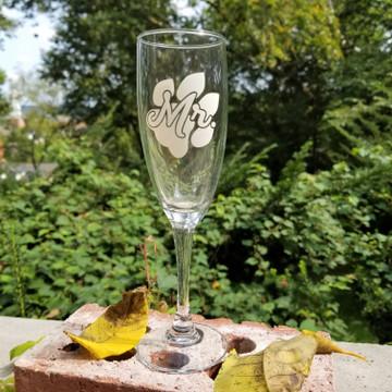 MR. PAW CHAMPAGNE GLASS - 5.75 OZ