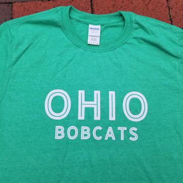OHIO BOBCATS T-SHIRT - IRISH GREEN