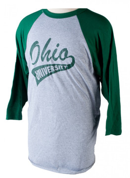 OHIO UNIVERSITY BANNER BASEBALL SHIRT