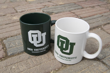 INTERLOCKING OHIO UNIVERSITY COFFEE MUG