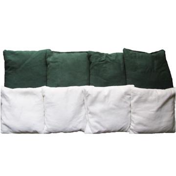 Green & White Ohio University Cornhole Bags
