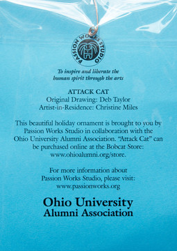 Attack Cat Ornament Information Card