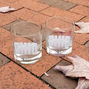 ARCHED OHIO ROCKS GLASSES SET