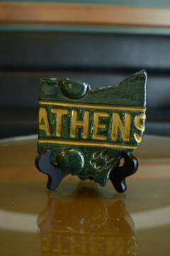 LARGE ATHENS BLOCK STATE PLATE
