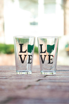 LOVE OHIO PINT GLASS SET