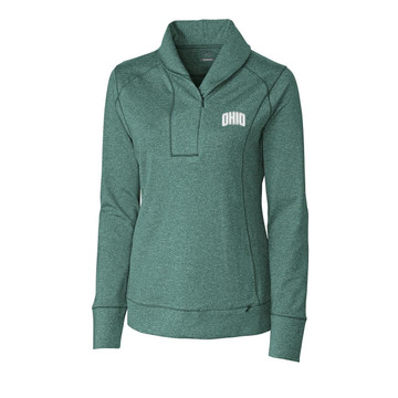 CUTTER & BUCK WOMEN'S SHORELINE HALF-ZIP FLEECE PULLOVER