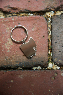 PAW OVER ATHENS KEYCHAIN