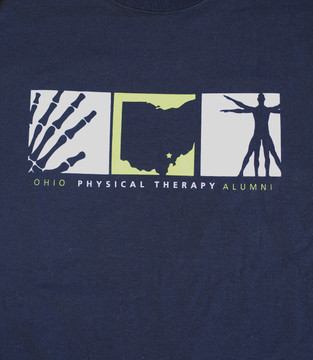 PHYSICAL THERAPY ALUMNI BLACK T–SHIRT