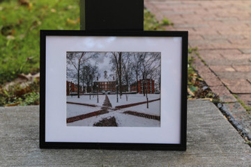 COLLEGE GREEN IN WINTER PHOTO PRINT
