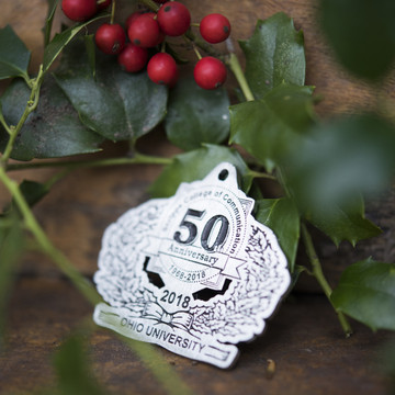 2018 PEWTER HOLIDAY ORNAMENT