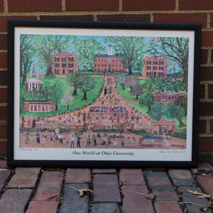 ONE WORLD AT OHIO UNIVERSITY- SPRING PRINT (ARTIST PROOF)