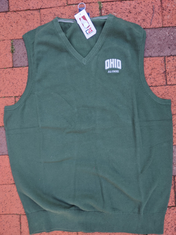 CUTTER AND BUCK MEN'S OHIO ALUMNI LAKEMONT SWEATER VEST - MEDIUM
