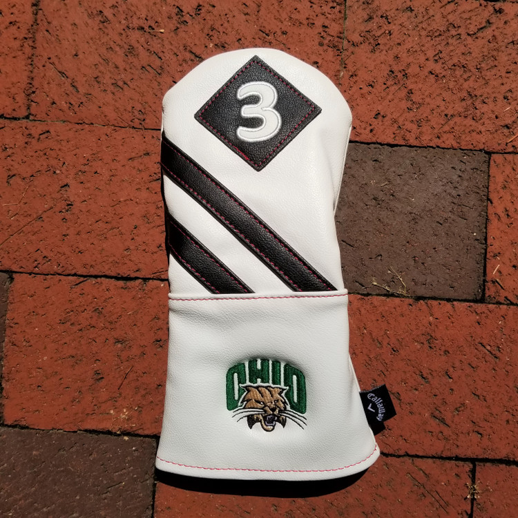 CALLAWAY LEATHER 3 WOOD WHITE HEADCOVER