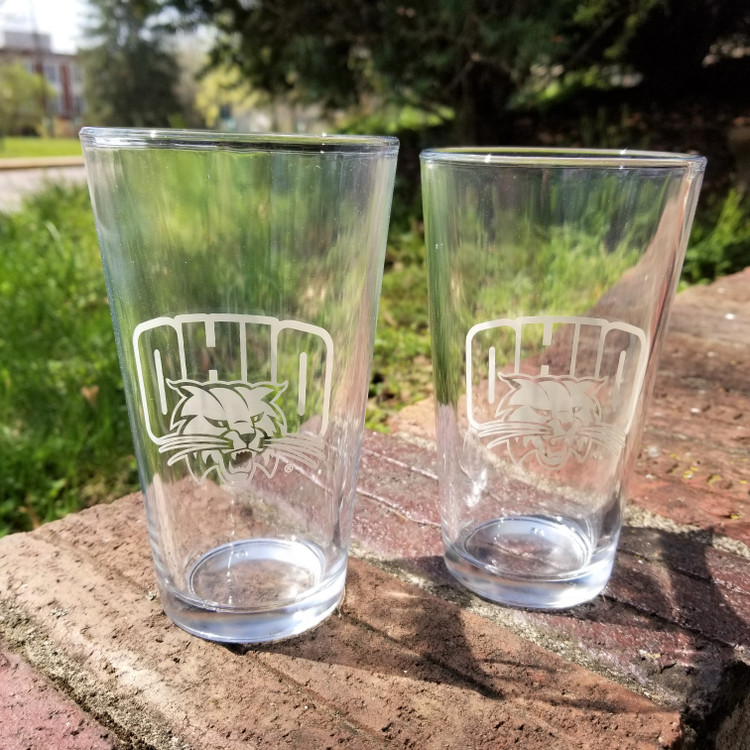 OHIO ATTACK CAT PINT GLASS SET