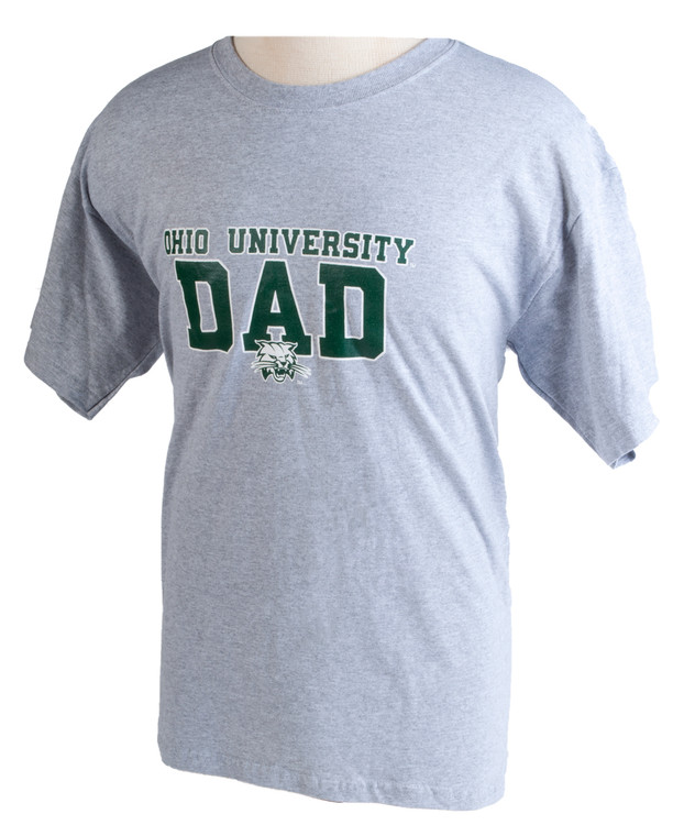 Ohio University OU Dad Grey T-Shirt