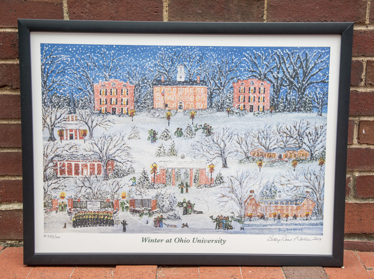 WINTER AT OHIO UNIVERSITY PRINT