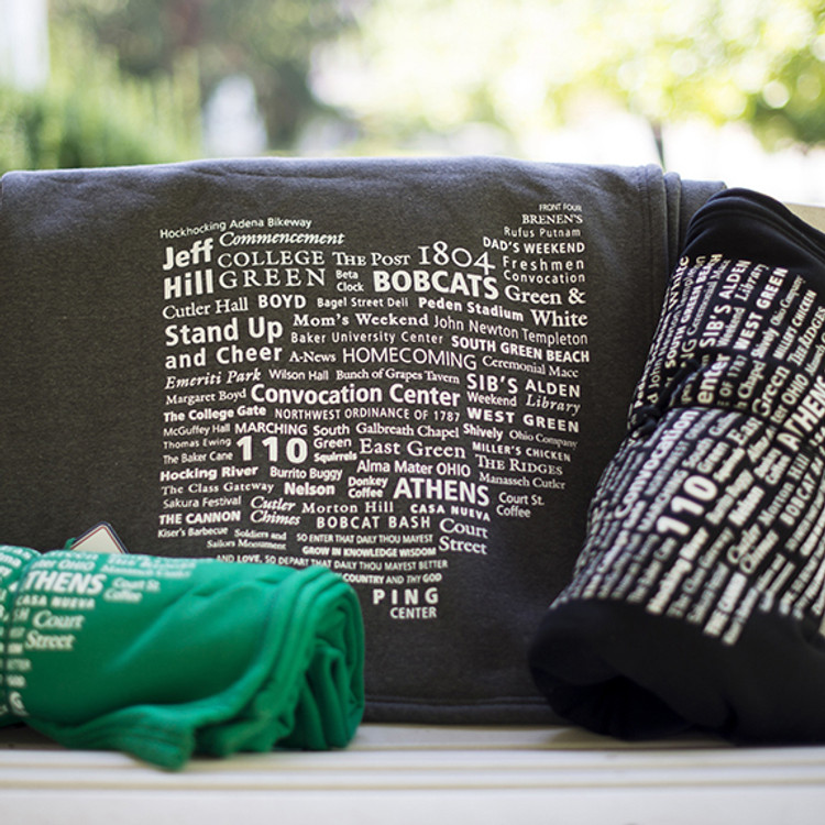 OHIO WORD CLOUD BLANKET