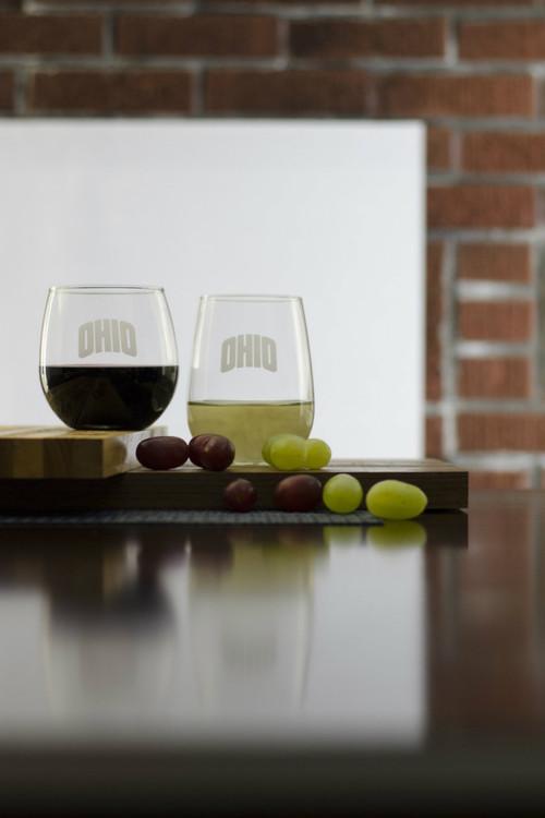 ARCHED OHIO STEMLESS WINE GLASS SET