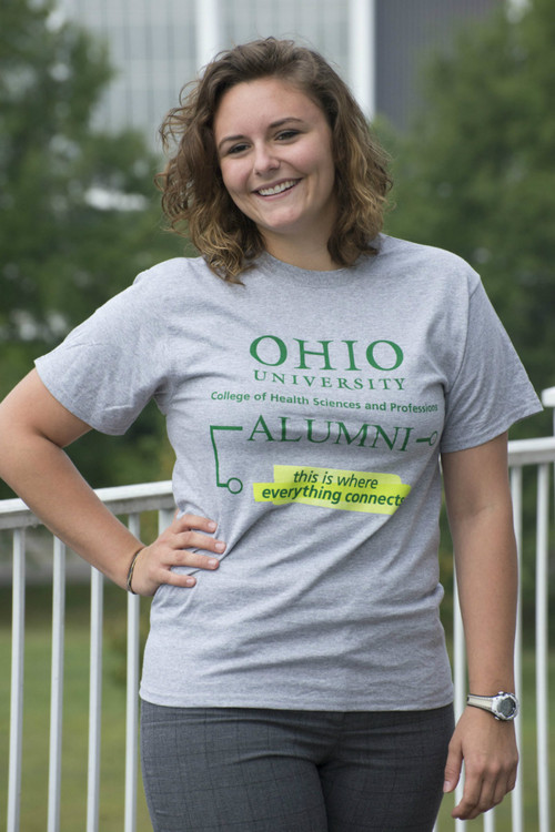 COLLEGE OF HEALTH SCIENCES AND PROFESSIONS ALUMNI T-SHIRT