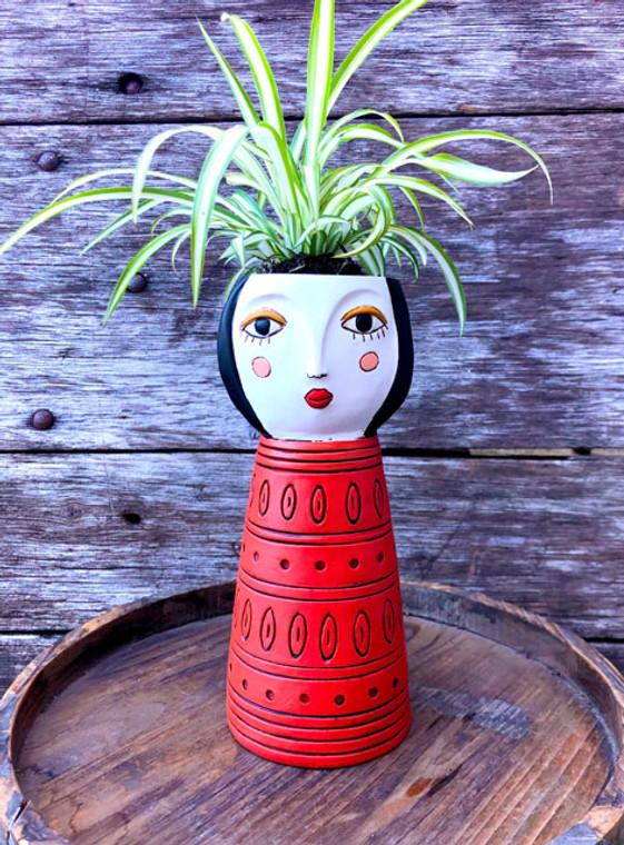 Vase planter red