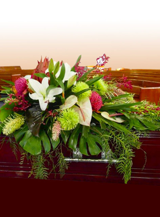 Tropical and natives casket cover