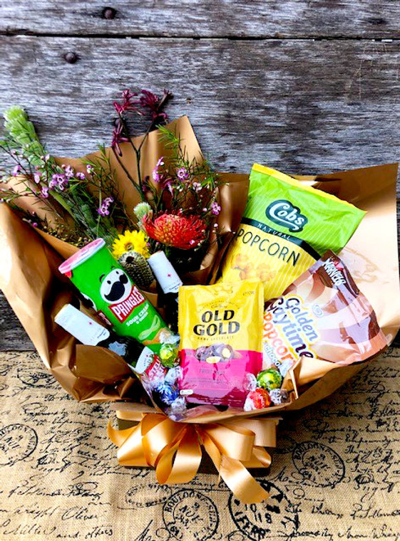 Father's day hamper with native flowers