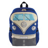 Volkswagen Front Campervan T1 Small Backpack - Blue