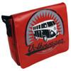 Tarpaulin VW Campervan Shoulder Bag - Large - Red