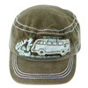 VW Surf The Street Campervan Military Cap - Olive
