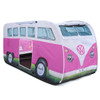 Kids Play VW Campervan Pop Up Tent - Pink