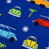 VW Campervan and Beetle Kids Blue Beach Towel