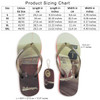 Volkswagen Campervan Beach Highway Red Flip Flops - Size Chart