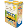 Volkswagen Campervan Lets Get Away Clip Top Box Tin