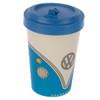 Volkswagen Blue Campervan Bamboo Travel Mug