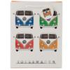 Volkswagen Quad Coloured Campervan Medium Gift Bag