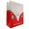 Volkswagen Red Campervan Medium Gift Bag