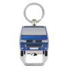 VW T5 Campervan Metal Bottle Opener Keyring - Blue