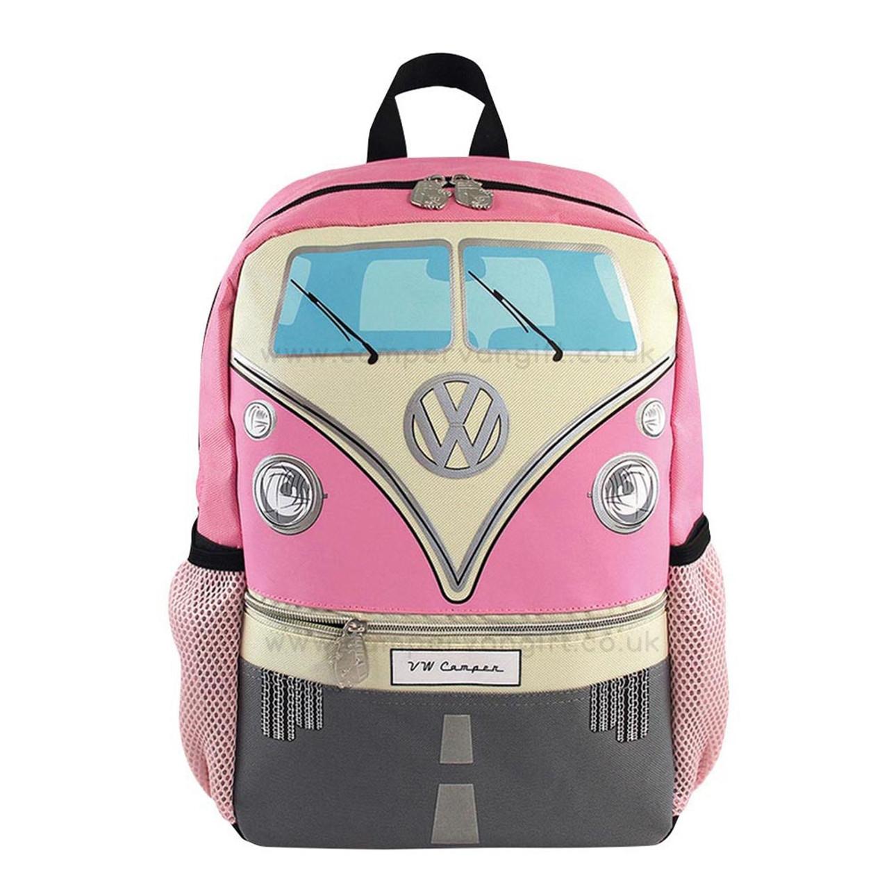 Volkswagen Front Campervan T1 Small Backpack - Idea School Bag for ... 153ffddf1a66f