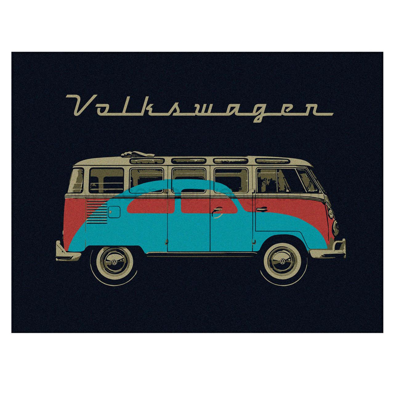 Volkswagen Bus   Bug Campervan Fleece Throw Blanket ee668e836