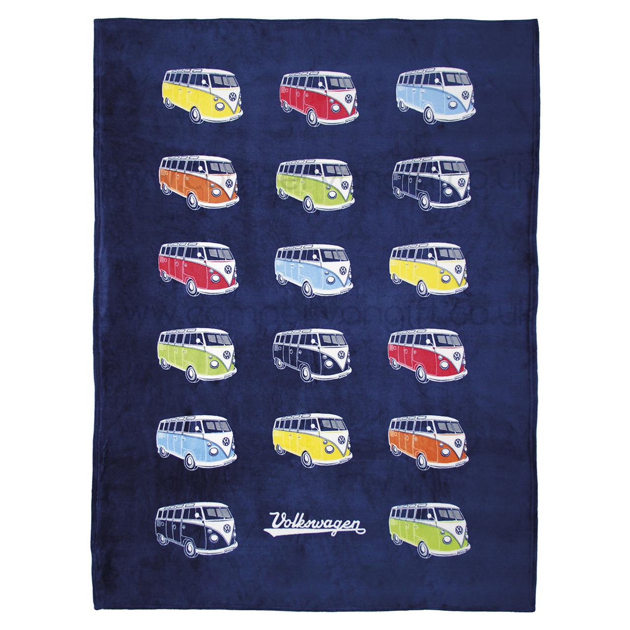 Volkswagen Campervan Colours Fleece Throw Blanket ad48a6cfa