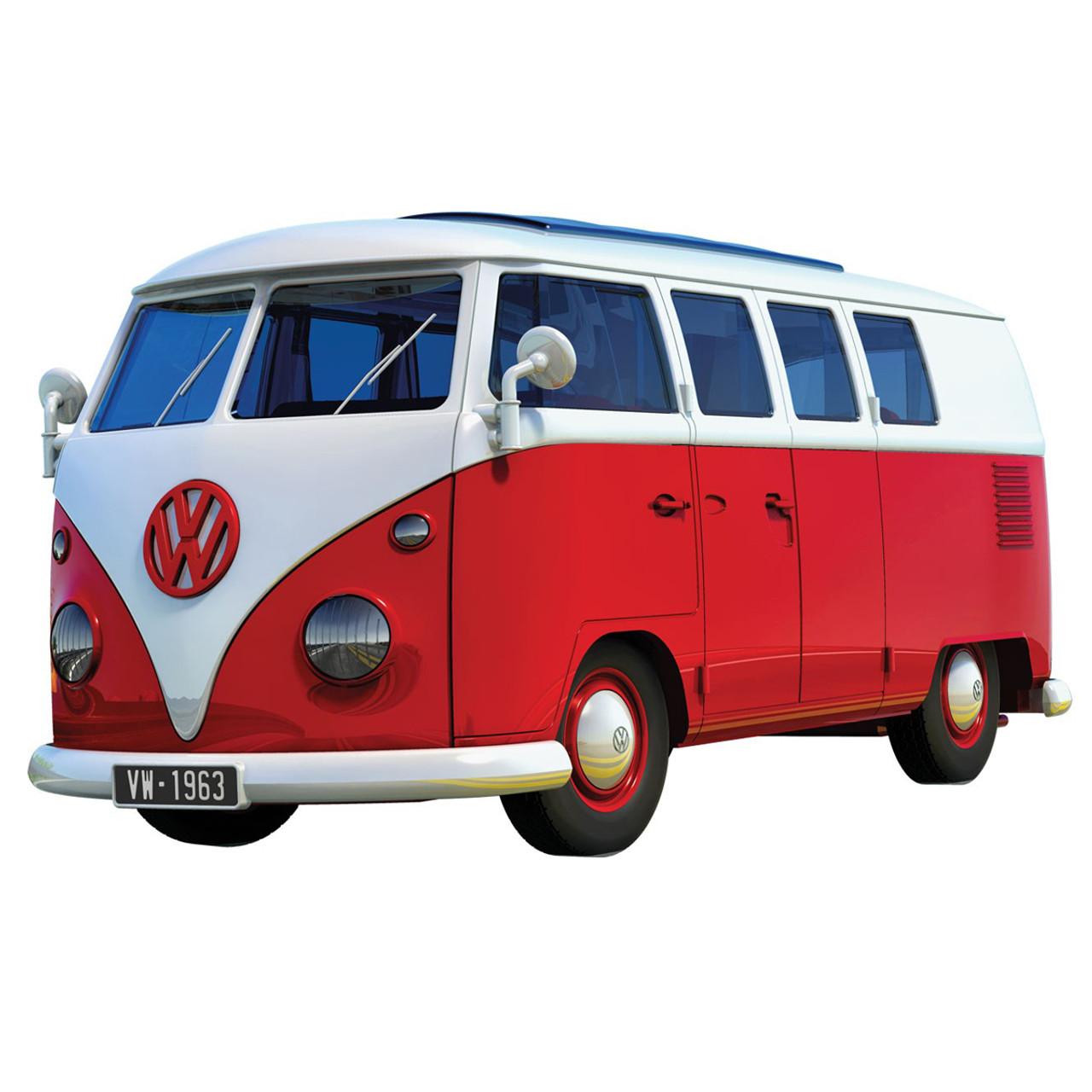 Vw Camper Van >> Airfix Quick Build Volkswagen Red Campervan