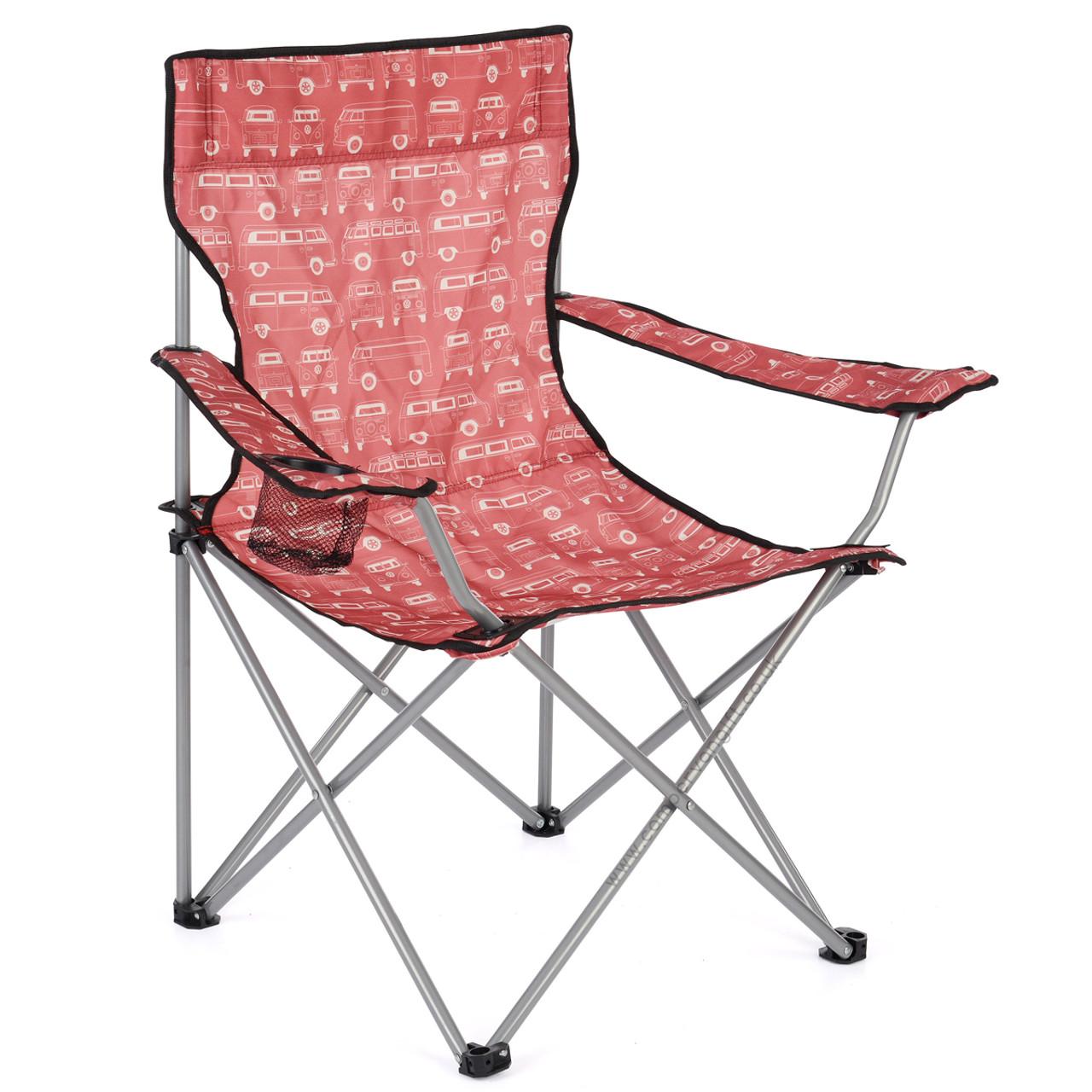 Pleasant Volkswagen Campervan Red Beach Folding Camping Chair Cjindustries Chair Design For Home Cjindustriesco