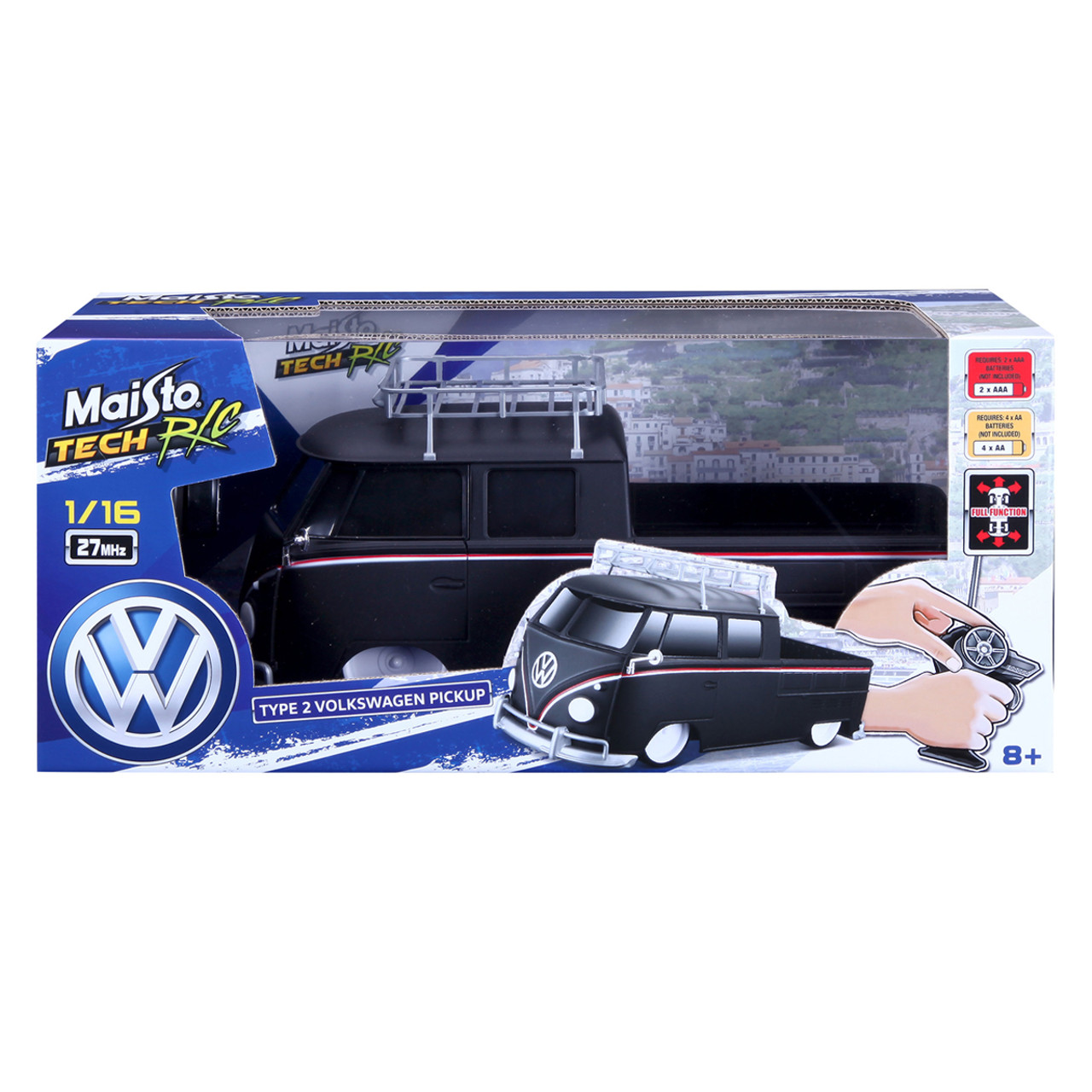 Volkswagen Remote Control Black Campervan Pickup Campervan Fun For Children And Adults