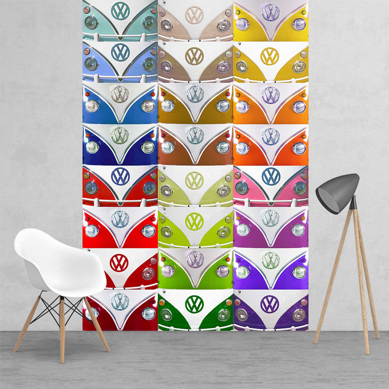 Multi Coloured Campervan Wallpaper Vw Wall Mural Park A Campervan On The Wall