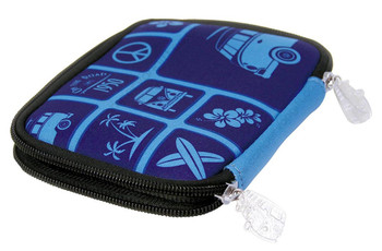 Volkwagen Blue Campervan Zipper Wallet