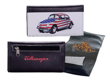 Volkswagen Black USA Beetle Tobacco Pouch