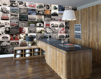 Volkswagen Campervan 64 Piece Creative VW Wallpaper Collage